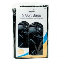 2 Pack - Black Garment Suit Covers