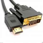 2M HDMI to DVI (DVI-D 24+1 Pin) Cable Black