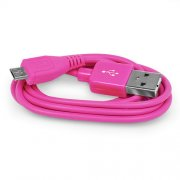 2M Micro USB Data Cable Pink