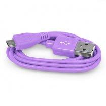 2M Micro USB Data Cable Purple