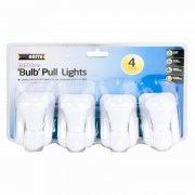 4 Pack - 3 Bright LED Bulb Pull Light