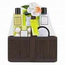 5 Piece Ladies Basmati and Palm Leaf Bath Hamper Gift Set