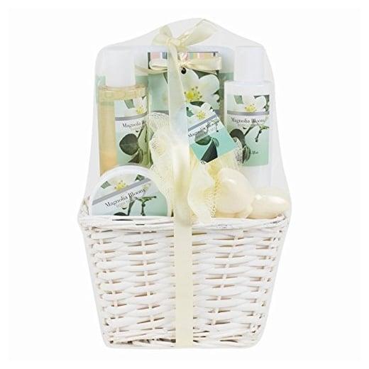 7 Piece Ladies Magnolia Bloom Bath Hamper Gift Set