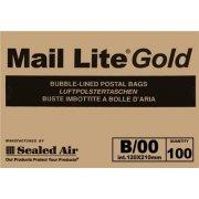 B/00 (120 x 210mm) Mail Lite Gold Envelopes
