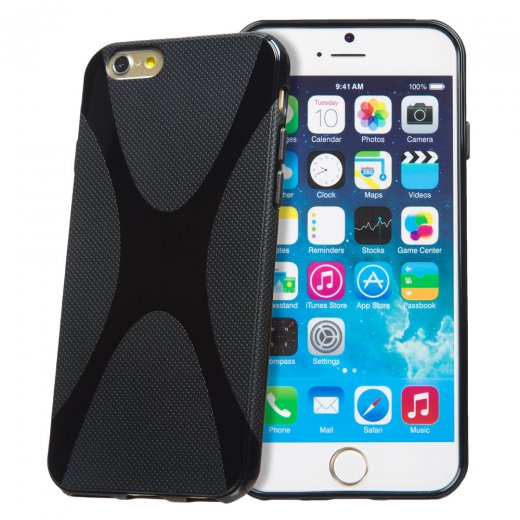 Black TPU X-Style Gel Case for Apple iPhone 6 4.7