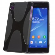 Black TPU X-Style Gel Case for Sony Xperia Z2 Smartphone