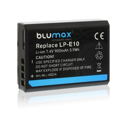 Blumax Battery for Canon LP-E10 900mAh