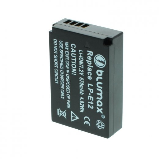 Blumax Battery for Canon LP-E12 670mAh