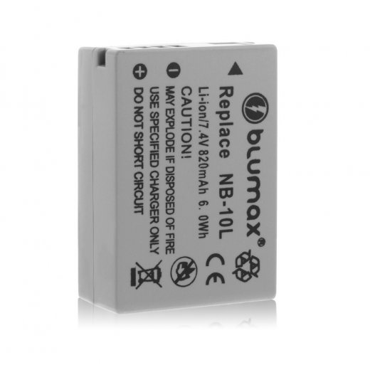 Blumax Battery for Canon NB-10L 820mAh