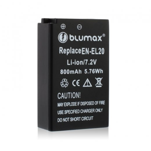Blumax Battery for Nikon EN-EL20 800mAh