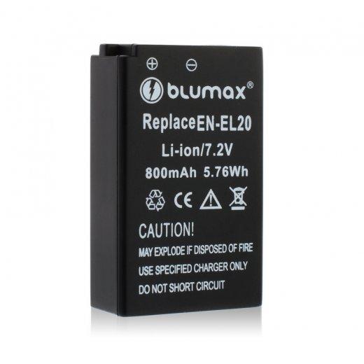 Blumax Battery for Nikon EN-EL20 800mAh