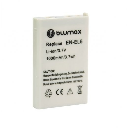 Blumax Battery for Nikon EN-EL5 1200mAh