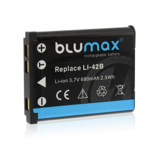 Blumax Battery for Olympus Li-40b / Li-42b 680mAh