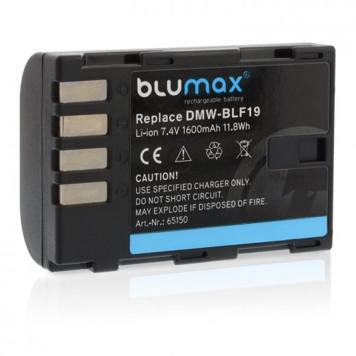 Blumax Battery for Panasonic DMW-BLF19E 1600mAh