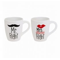 Bride Groom Mr Right and Mrs Always Right Mugs