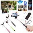 Built-in Bluetooth Shutter Handheld Selfie Stick Pink