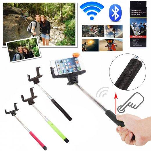 Built-in Bluetooth Shutter Handheld Selfie Stick Purple