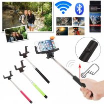 Built-in Bluetooth Shutter Handheld Selfie Stick Purple