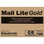 C/0 (150 x 210mm) Mail Lite Gold Envelopes