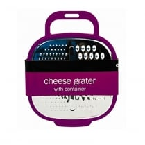 Cheese Grater with Container and Grip Handle