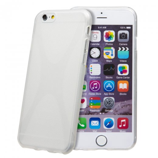 Clear TPU X-Style Gel Case for Apple iPhone 6 4.7