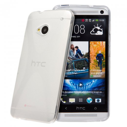 Clear TPU X-Style Gel Case for HTC One M7