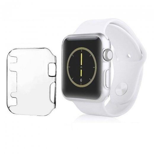 Crystal Clear Hard Snap On Case for Apple Watch 38mm