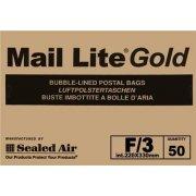 F/3 (220 x 330mm) Mail Lite Gold Envelopes