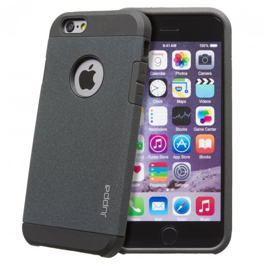 "Juppa Tough Armour Sand Storm Case for Apple iPhone 6 4.7"" Black"