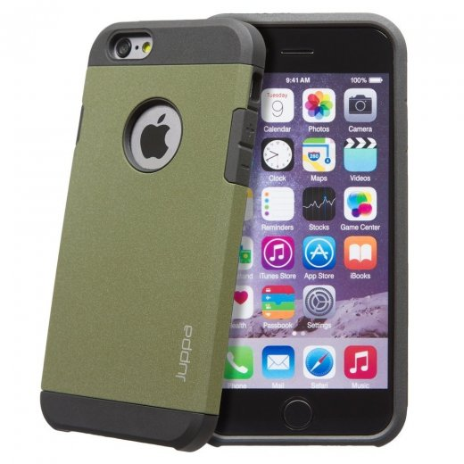 "Juppa Tough Armour Sand Storm Case for Apple iPhone 6 4.7"" Green"