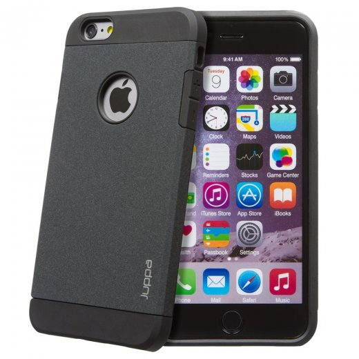 "Juppa Tough Armour Sand Storm Case for Apple iPhone 6 Plus 5.5"" Black"
