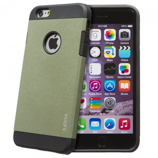 "Juppa Tough Armour Sand Storm Case for Apple iPhone 6 Plus 5.5"" Green"