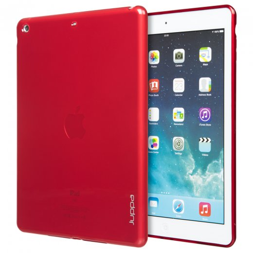 Juppa TPU Gel Case for Apple iPad Air 2 2014 Red