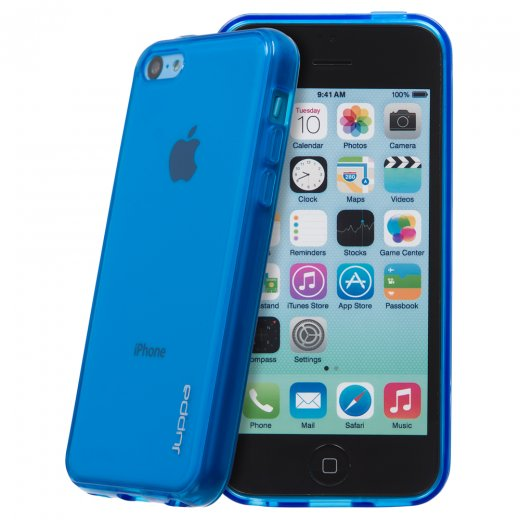 Juppa TPU Gel Case for Apple iPhone 5c Blue