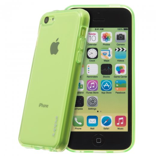 Juppa TPU Gel Case for Apple iPhone 5c Green