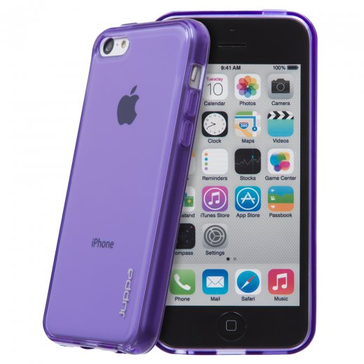 Juppa TPU Gel Case for Apple iPhone 5c Purple