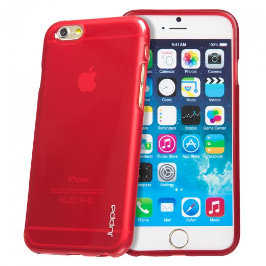 "Juppa TPU Gel Case for Apple iPhone 6 Plus 5.5"" Red"
