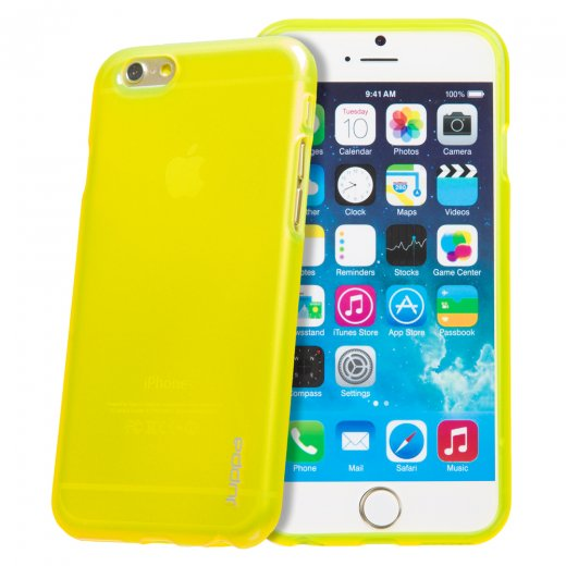 "Juppa TPU Gel Case for Apple iPhone 6 Plus 5.5"" Yellow"