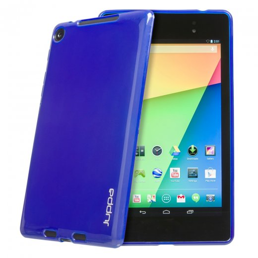 Juppa TPU Gel Case for Google Nexus 7 2nd Gen 2013 Blue