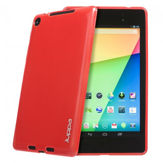 Juppa TPU Gel Case for Google Nexus 7 2nd Gen 2013 Red