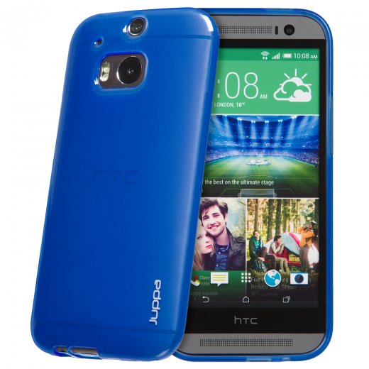 "Juppa TPU Gel Case for HTC One M8 5.0"" Blue"