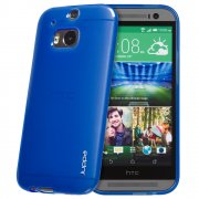 "TPU Gel Case for HTC One M8 5.0"" Blue"