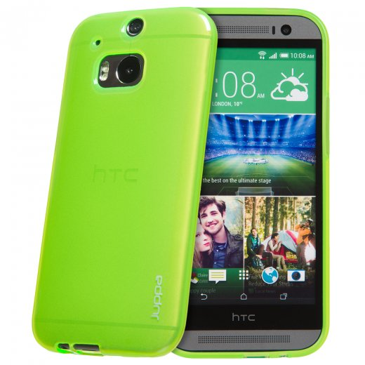"Juppa TPU Gel Case for HTC One M8 5.0"" Green"