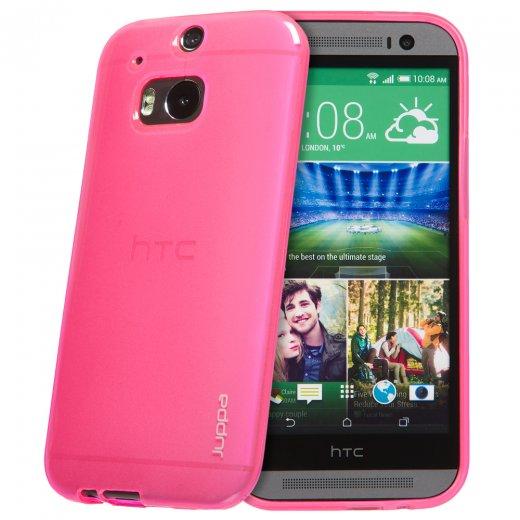 "Juppa TPU Gel Case for HTC One M8 5.0"" Pink"