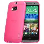 "TPU Gel Case for HTC One M8 5.0"" Pink"