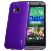 "TPU Gel Case for HTC One M8 5.0"" Purple"