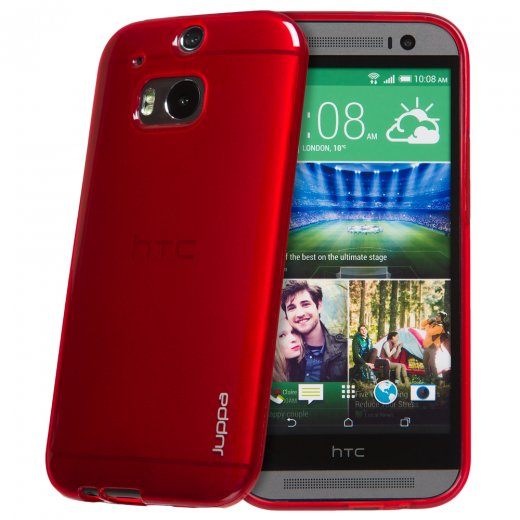 "Juppa TPU Gel Case for HTC One M8 5.0"" Red"