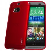 "TPU Gel Case for HTC One M8 5.0"" Red"