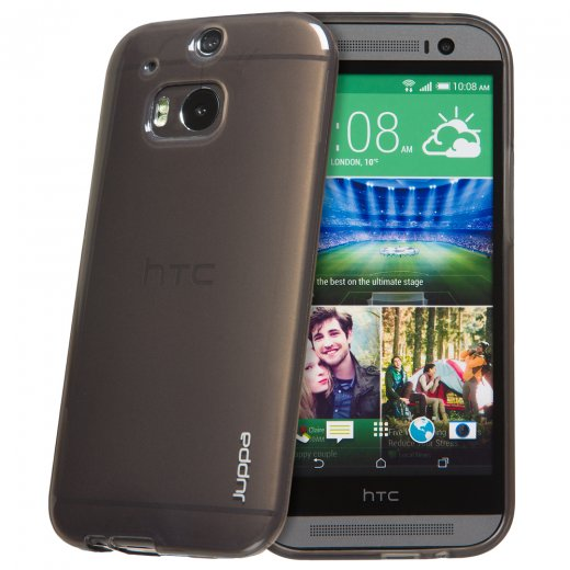 "Juppa TPU Gel Case for HTC One M8 5.0"" Smoke"