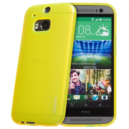 "Juppa TPU Gel Case for HTC One M8 5.0"" Yellow"